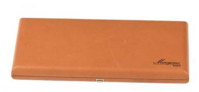 Boîte en cuir pour 20 anches de hautbois avec humidificateur - marron